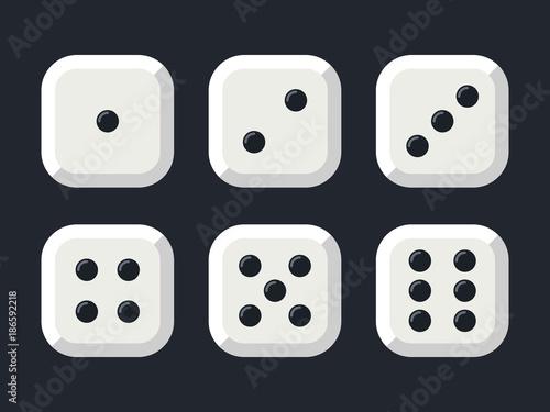 Craps. White dice vector illustration Fototapete