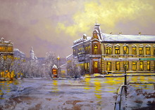 Old City, Oil Paintings Landsc...