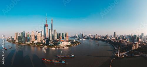 Photo Stands Shanghai Shanghai skyline panoramic view, Shanghai China