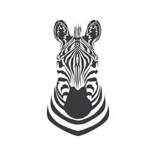 Head Zebra Logo Or Icon Vector Design