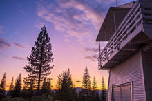Fire Lookout At Twilight