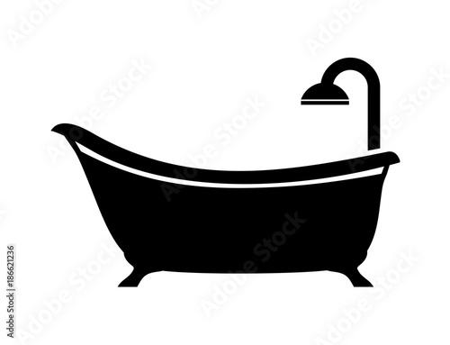 bath icon Poster Mural XXL