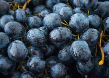 Bunch Of Vine Grapes Or Berlan...