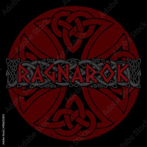 Photo  Scandinavian pattern - Ragnarok. Illustration of Norse mythology