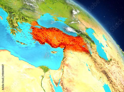 Poster Parc Naturel Turkey from orbit