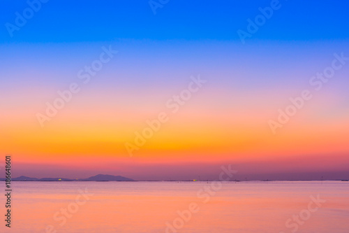 Beach and sunset background with long exposure  Landscape
