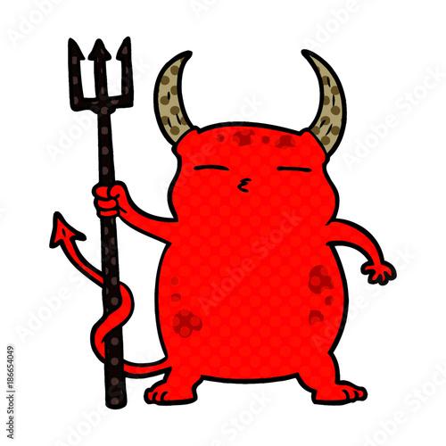 Obraz cartoon little devil - fototapety do salonu