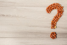 Question Mark Sign Made Of Pea...