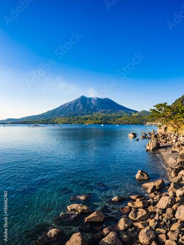 海潟から観る桜島 錦江湾