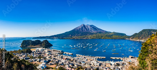 Foto op Canvas Asia land 海潟から観る桜島 錦江湾