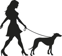 Vector Silhouette Of An Woman ...