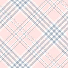 Plaid Check Pattern In Pale Pi...