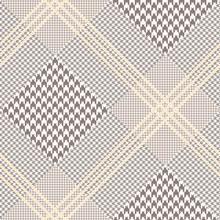 Glen Plaid Pattern In Brown, O...