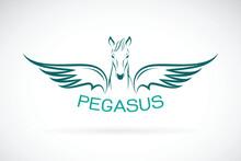 Vector Of A Horse Pegasus Desi...