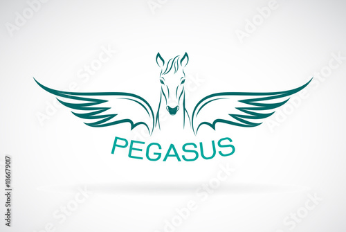 Fotomural Vector of a horse pegasus design on white background