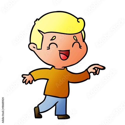 Fotobehang Indiërs cartoon laughing man pointing