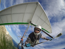 Hang Glider Pilot Chot With Ac...