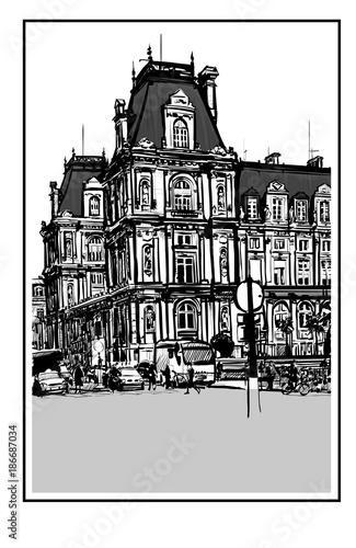 Fotobehang Art Studio Hotel de Ville in Paris