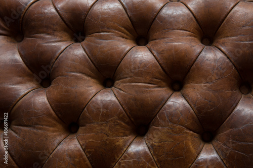 Deurstickers Leder Leather upholstery Texture of a leather armchair