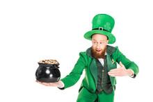 Leprechaun In Green Suit Prese...