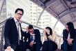 business failure concept : businessman stressed sitting ,problem life balance