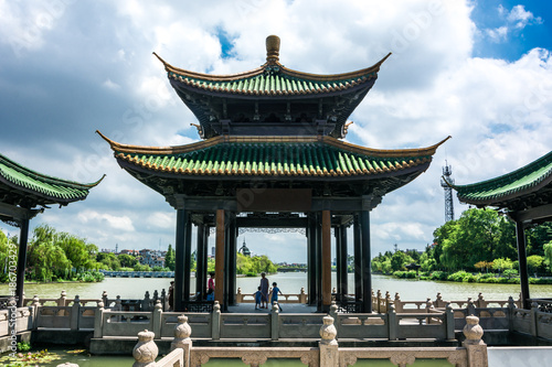 Poster Artistique chinese garden in portland oregon
