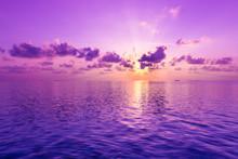 Fantastic Sunset. A Violet Sun...