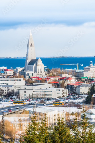 Foto op Aluminium Arctica Beautiful view of Reykjavik winter in Iceland winter season