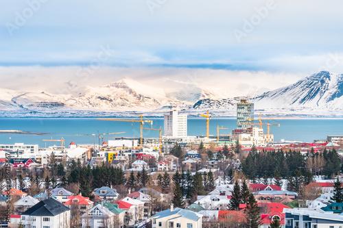 Valokuva Beautiful view of  Reykjavik winter in Iceland winter season