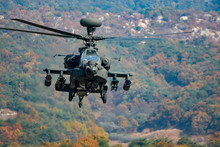 Apache Helicopter Hovering