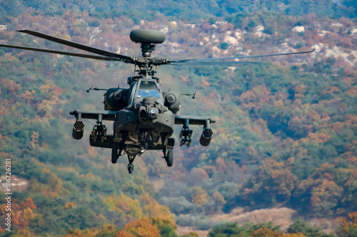Apache Helicopter Hovering Canvas Print