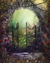 Enchanting Old Garden Gate Wit...