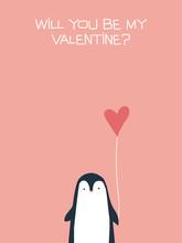 Valentine Card Vector Template...