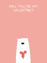 Valentine Card Vector Template...