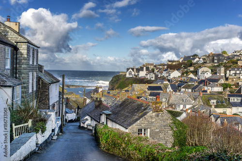 Photo  Port Issac in Cornwall in south west England