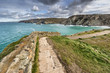 The south west coastal path at St Agnes in Cornwall