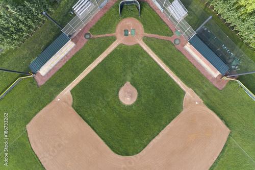 Overhead Baseball Diamond View