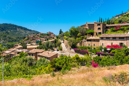 Staande foto Noord Europa View on the Village of Deia Mallorca Spain