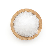 Sea Salt In A Wooden Bowl Top ...
