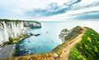 Alabaster coast in France Normandie