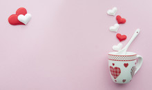 Valentine's Day Background Coffee Themed