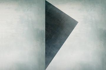 Obraz na SzkleDreieck auf heller Wand - Abstrakter Hintergrund - Grafik Design