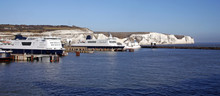 Ferries And White Cliffs In Do...