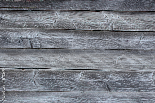 Grunge old wood panels textured. Surface of the horizontal wood board with knot and crack. Top view background