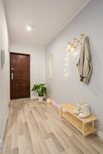 Entryway With Wooden Floor Pan...