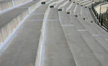 Stadium Rows Made Of Concrete