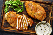 Grilled Chicken Breast In A Sw...