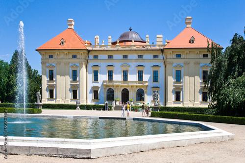 baroque castle in Slavkov - Austerlitz near Brno, South Moravia, Czech republic.