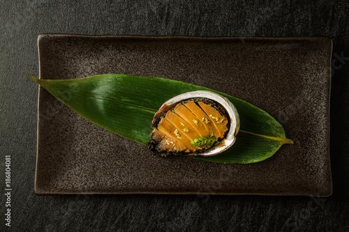 Photo あわび料理 Luxury abalone dishes Japanese food