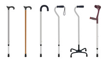 Set Of Walking Sticks And Crut...